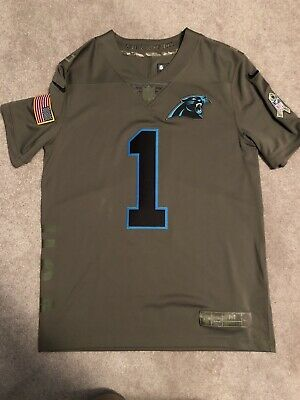 new style 82f83 0548c NWT CAM NEWTON Carolina Panthers Salute to Service Nike ...