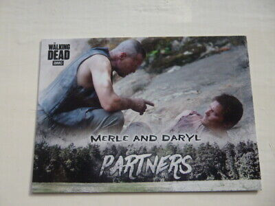 Walking Dead Hunters&The Hunted Partners P-1 Chase Card Walmart Exclusive Merle+