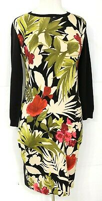 NWT Tommy Bahama Women's Size S/P 4/6 Tropical Floral / Black Dress $139 Retail