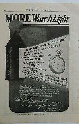 Merchandise & Memorabilia 1904 Dueber Hampden Pocket Watch Watch Case Vintage Original Ad Advertising-print