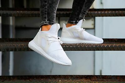 Adidas Womens Girls Tubular Defiant White Trainers Shoes BB5116 UK 3.5 to 9