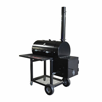 """36"""" Reverse Flow Offset Smoker Grill BBQ 408 Sq. In. Area Brisket Meat Cooker"""