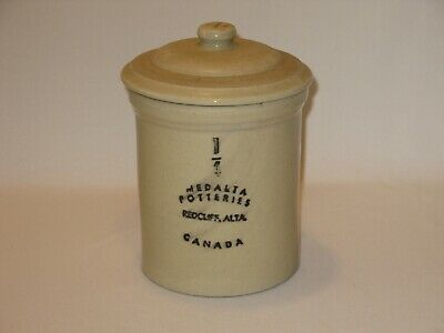 Vintage Medalta Potteries ¼ Gallon Crock with Lid – Redcliff Alta Canada