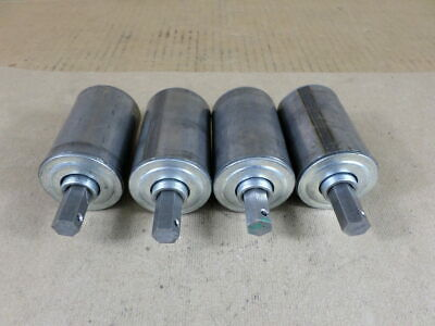 "Lot of 4 Unbranded 3.125BF-1-5/8"" Dia Conveyor Rollers"