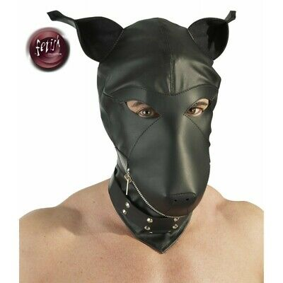 fetish Dog Mask BDSM Bondage Fetish Mask Hood Open Mouth Eye Bondage SLAVE GAME