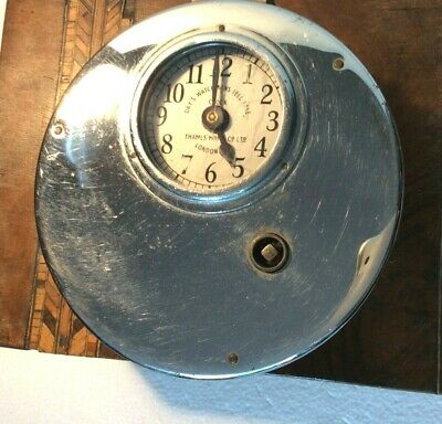 "Antique ""days watchmans tell tale clock"" Thames Manufacturing Co ltd, London"