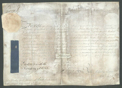 King George Ii (Great Britain) - Military Appointment Signed 10/01/1757