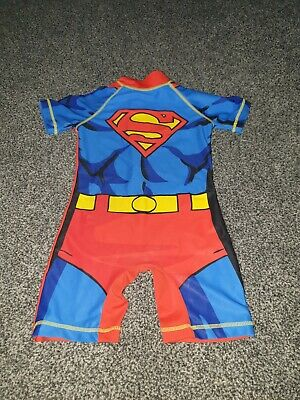 boys next superman all in one sunsafe swim suit 1.5-2 18-24