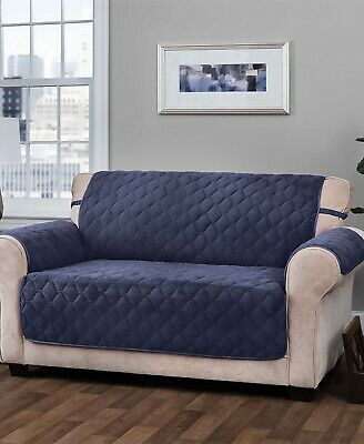 LOGAN PLUSH FURNITURE Cover Slipcover - Navy Blue XL Sofa ...