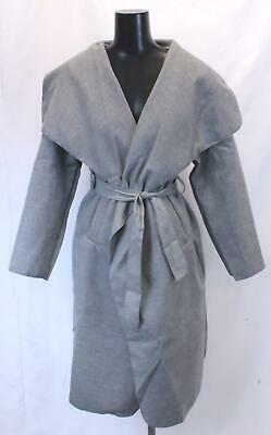 f44387a9588fb Boohoo Women's Maternity Wool Look Wrap Front Coat SD8 Gray One Size NWT