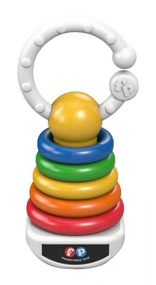 Fisher Price Rock-a-Stack Clacker Rattle Toy  Shake, Rattle & go!  *NEW*