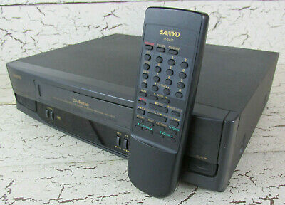 Sanyo VCR VHS Video Cassette Player Recorder Remote IR 5420 VHR 5420 4 Head HiFi