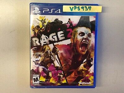 Rage 2 (Sony Playstation 4, PS4, 2019) BRAND NEW FACTORY SEALED!!!!!!!!!!!!!!!!!