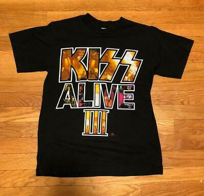 047883b6 Vintage 1993 Kiss Alive III 3 Army Band Concert Tour T Shirt 90s rock Size S
