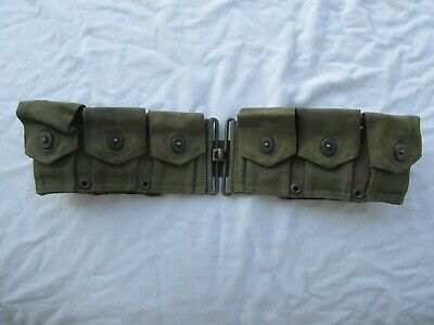 Original WW2 USGI USMC Marine Corps Cartridge Belt dated 1944