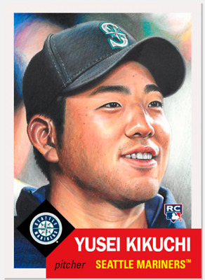 Topps Living Set Card # 185 Yusei Kikucki Rc (Seattle Mariners)