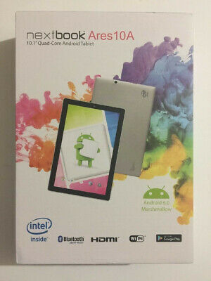 """Nextbook NX16A10132S Ares 10A 10.1"""" 32GB Tablet Android 6.0 Marshmallow, Silver."""