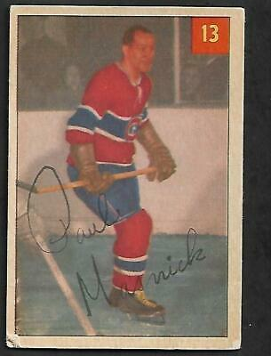 1954-55 Parkhurst Nhl Hockey: #13 Paul Masnick, Montreal Canadiens