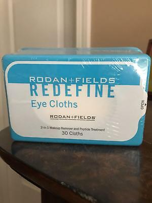 Lot of 2 Rodan + and Fields Redefine Eye Cloths Peptide 30 Cloths New Sealed