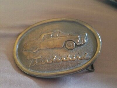 Vintage Ford Thunderbird Belt Buckle- Indiana Metal Craft