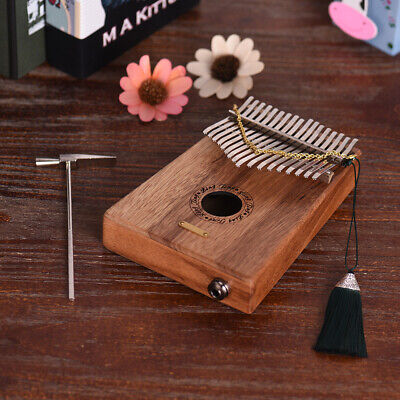17-key Kalimba Thumb Piano Swartizia Spp Solid Wood w/Pickup Speaker I/F P2N4
