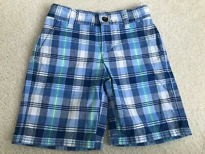 Toddler Boy Janie & Jack Blue and White Plaid Shorts 4T
