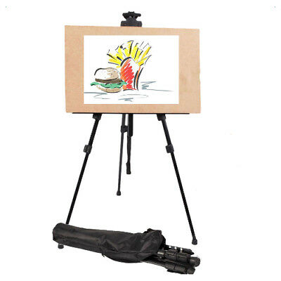 Artist Adjustable Kids Easel Tripod Stand Display Painters Picture Art Craft Bag