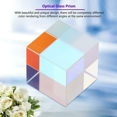 Six-Sided Bright Light Combine Cube Prism Stained Glass Beam Splitting Prism