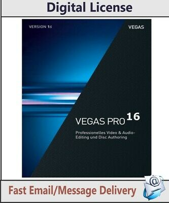 Sony Vegas Pro 16 Professional video & audio & Blu-ray production Fast Delivery