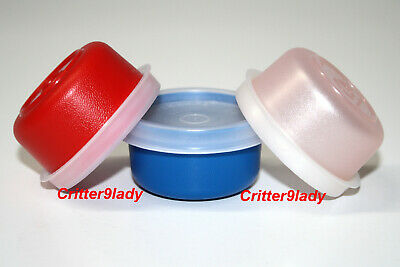 NEW Tupperware Lot of 3 Smidgets in Red Blue and Blush Pink