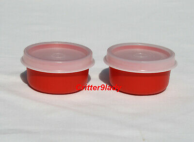 NEW Tupperware Lot of 2 Smidgets in Red