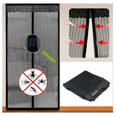 Mesh Door Magic Curtain Magnetic Snap Fly Bug Insect Mosquito Screen Guard ac0