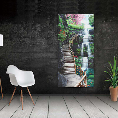 Waterfall Landscape Canvas Print Painting Home Wall Decor Art Poster 3
