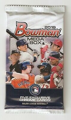 2019 Bowman Mega Box Chrome Mojo Refractor 5-Card PACK Unopened Franco?Guerrero?