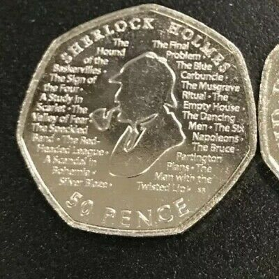 2019 UK Sherlock Holmes Uncirculated From Sealed Bag Free Postage New