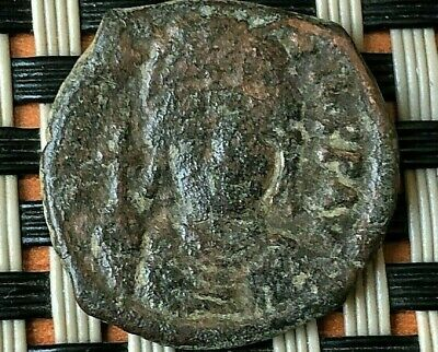 "Justin Ii 565-578Ad Ae Half-Follis Large ""K"" Thessalonica Ancient Byzantine Coin"