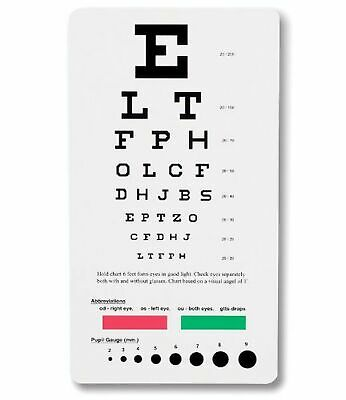 NCD Medical Snellen Pocket Eye Chart