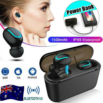 Mini TWS True Wireless In-Ear 3D Stereo Bluetooth V5.0 Earphones Earbuds Headset