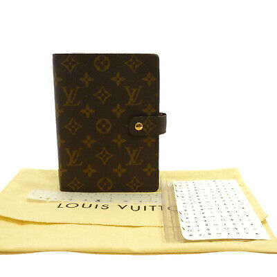 Auth LOUIS VUITTON Agenda MM Day Planner Cover Monogram Canvas R20004 #S302034