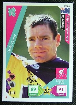 Cadel Evans 294* Adrenalyn XL Panini London Olympic 2012 Card
