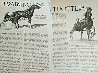 Mar 1929 Magazine Page #A213- Horse Racing / Training The Trotters- 3 Pgs
