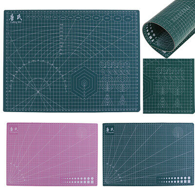 A3 PVC Self Healing Cutting Mat Craft Quilting Grid Lines Printed Board UKHD