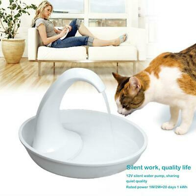 LED USB Automatic Electric Pet Water Fountain Cat/Dog Drinking Dispenser 2.34L