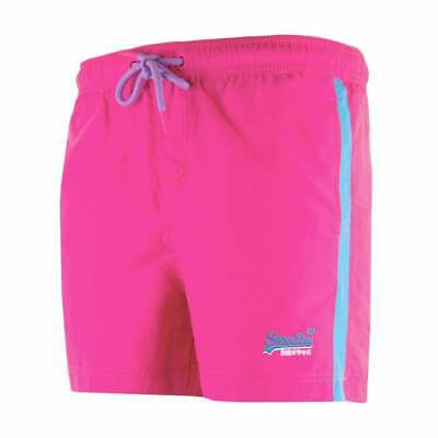 Brand New Genuine Superdry Mens Beach Volley Swim Shorts Sunblast Pink Size 2Xl
