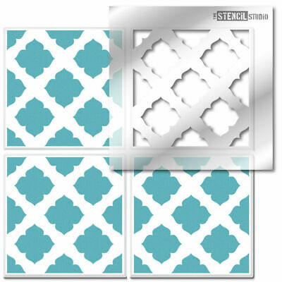 Randwick Reusable Tile STENCIL. Painting Floors & Walls. Revamp old tiles 10635