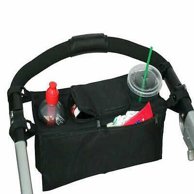 Pram Baby Organiser Stroller Buggy Pushchair Storage for Food Feeder Cup Holder