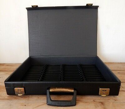 Vintage Retro Extra Large HUGE Audio Cassette Tape Storage Box Carry Case