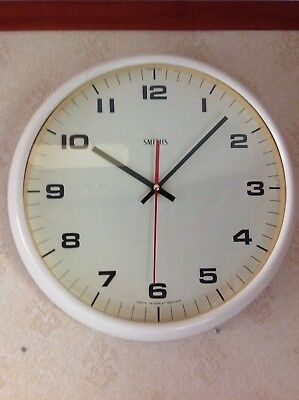 Genuine Smiths Large Wall Clock (Quartz Movement Converted)
