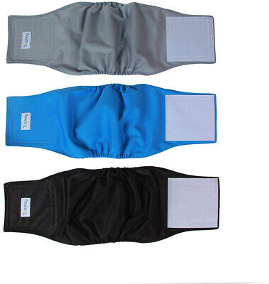 Reusable Wrap Diapers Male Dogs Washable Puppy Belly Band 3 Pack 10-13 Waist