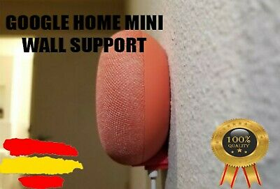 Soporte de pared Google Home Mini Invisible | Wall Mount | Negro, Blanco & Rojo